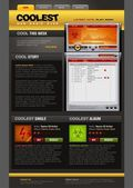 Music Radio web design template — Stock vektor