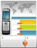 Telecom provider brochure — Stock Vector