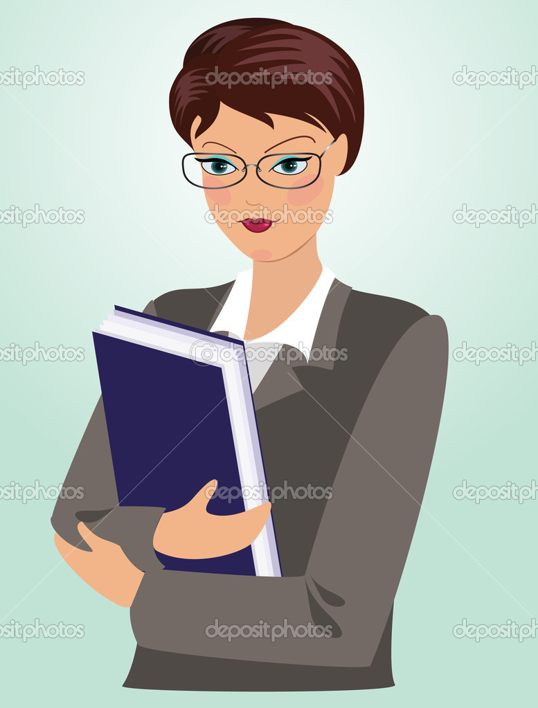 Female Teacher — Stock Vector © vittore #1276187: depositphotos.com/1276187/stock-illustration-female-teacher.html