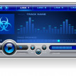 Royalty-Free Stock Imagem Vetorial: Media Player Blue