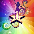 Disco Dancing girl - Imagen vectorial