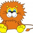 Smiling Little Lion — Stock Vector