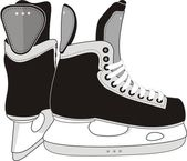 Ice Hockey Skates. — Stock Vector