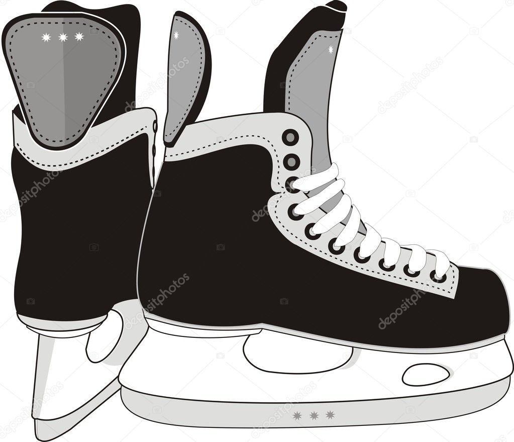 ice hockey skates stock vector advrt24 1122393. Black Bedroom Furniture Sets. Home Design Ideas