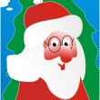 Vector de stock : Santa Claus and a green fur-tree