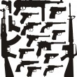 Royalty-Free Stock Vector Image: Gun collection II - World legends