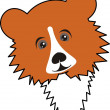 Royalty-Free Stock Vector Image: Young bear (grizzly)