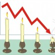 Royalty-Free Stock Векторное изображение: Crisis. The diagram with candles.