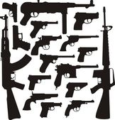 Gun collection II - World legends — Stock Vector