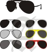 Sun Glasses Collection — Stock Vector