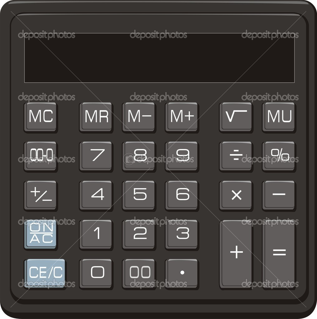 Desktop Office Calculator Stock Vector Advrt24 1163508