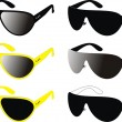 Sun glasses- a fashion, sports, beauty — Stock Vector