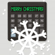 Christmas electronic calculator — Stock Vector