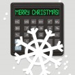 Christmas electronic calculator — Stock Vector #1345766