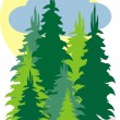 Royalty-Free Stock Vector Image: Fir forest