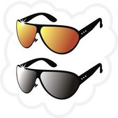 The pair of mirror's sun glasses — Stock Vector