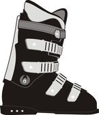 The ski sports boot. — Stock Vector