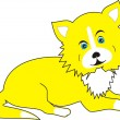 Yellow  puppy — Stock Vector