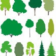 Royalty-Free Stock Vector Image: Trees. Vector set.