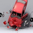 Fall of the car - Stock Photo