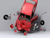 Fall of the car — Stock Photo