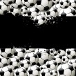 Vector background filled with balls — Image vectorielle