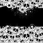 tło wektor wypełnione czaszki — Wektor stockowy