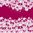 Vector background filled with skulls - Stock Vector