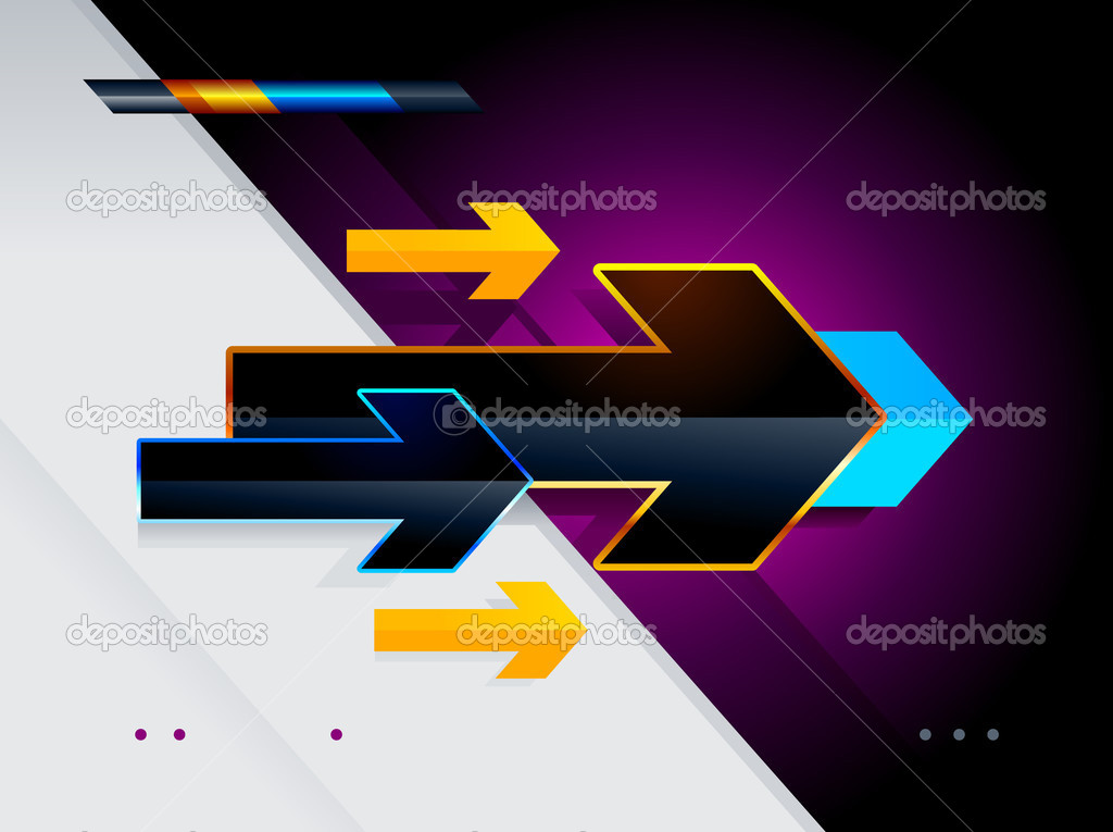 High tech arrows. Abstract vector illustration.  Stock Vector #1155522
