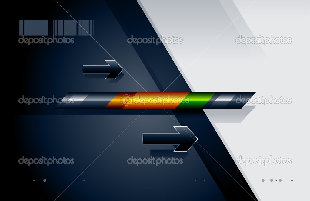 High tech background with arrows. Abstract vector illustration. — Stock Vector #1155523