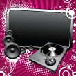 Royalty-Free Stock Vector Image: Turntable and glossy banner