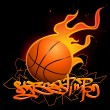 Stock Vector: Basketball graffiti image