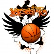 Basketball graffiti image - Stock Vector
