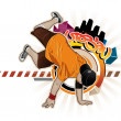 Cool image with breakdancer — Stock Vector #1287821
