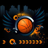 Basketball modern image — Stock Vector