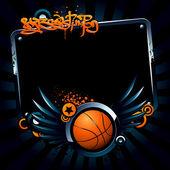 Basketball banner — Stock Vector