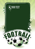 Football banner — Vector de stock