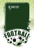Bandera del fútbol — Vector de stock