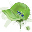 Stock Vector: Realistic green cap