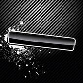 Glossy black button — Stock Vector