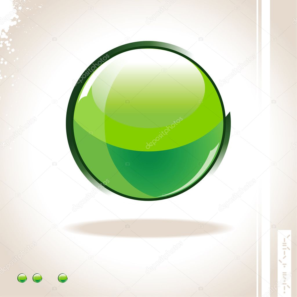 Glossy glass sphere  Stock Vector #1332880