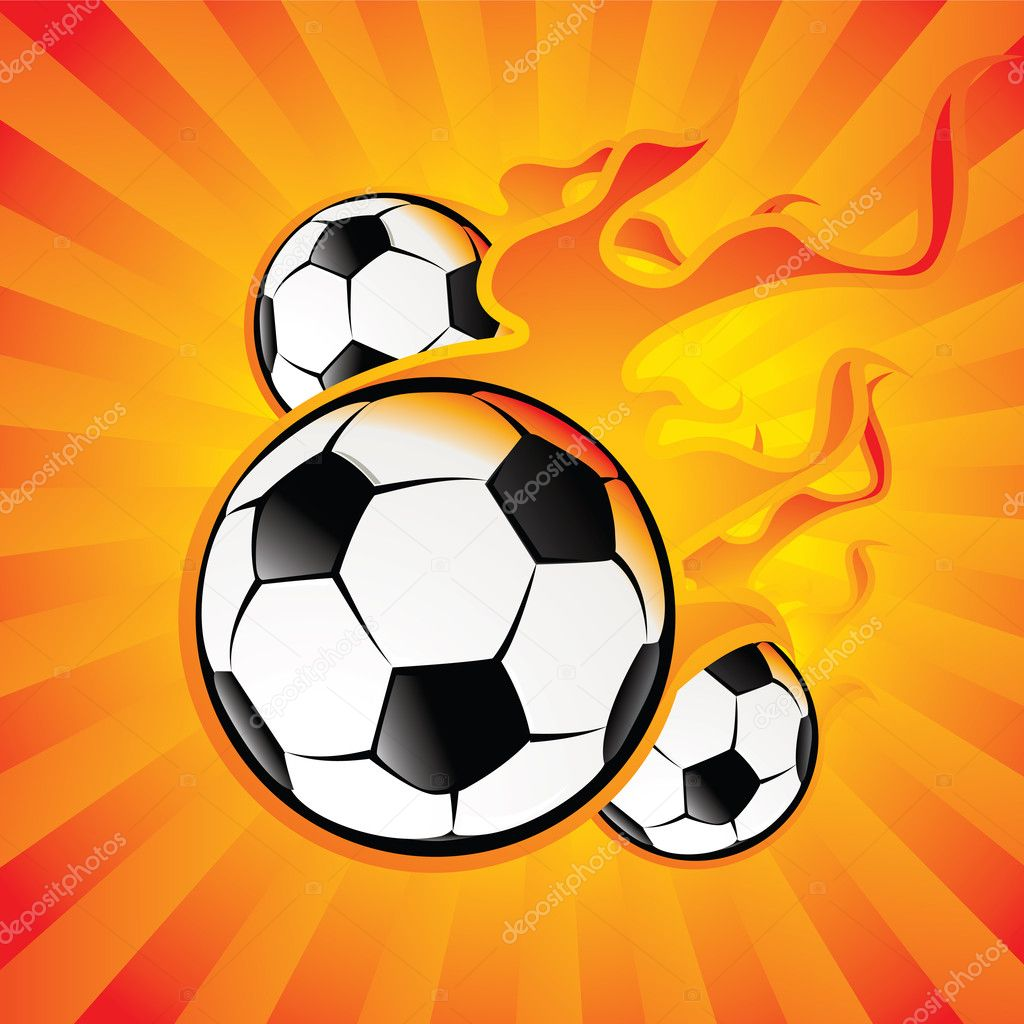 Balls in the fire — Stock Vector #1333786