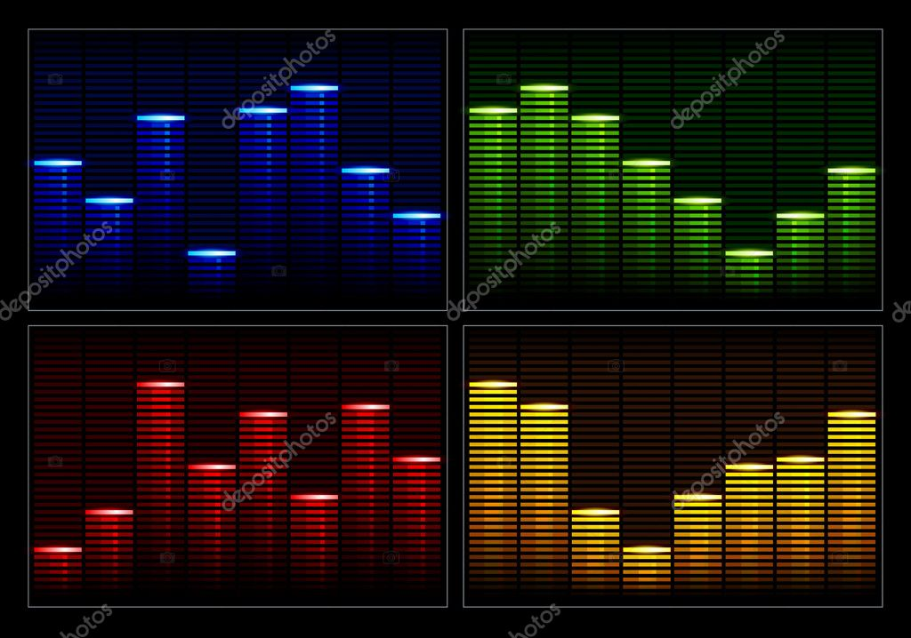 Set of vector equalizers  Stock Vector #1333794