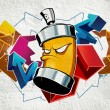 Cool graffiti image — Stock Photo