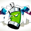 Cool graffiti image — Stock Vector