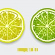 Cut lemon — Stock Vector #1395789