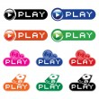 Royalty-Free Stock Vector Image: Set of  musical buttons