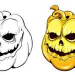 Two vector pumpkins — Stock Vector