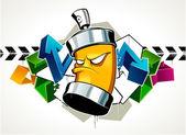 Cool graffiti image — Stock Vector