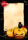 Plaque pour la fête d'halloween — Vecteur